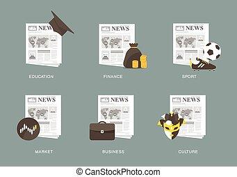 Zeitungs-Ikone eingestellt.