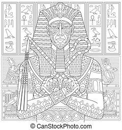 Zentangle stilisierte Pharao