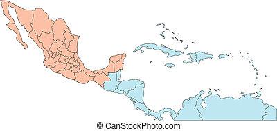 Zentralamerika mit redaktionellen Ländern