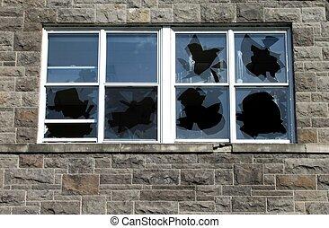 Zerbrochene Fenster