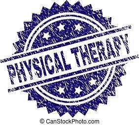 Zerkratzte, strukturierte PHYSICAL THERAPY Stempeldichtung