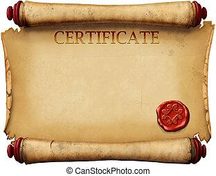 Zertifikate mit Wachsstempel