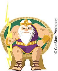 Zeus auf Weiß