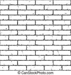 Ziegelmauer. Leichte Beschaffenheit.