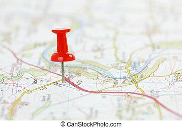 Ziel auf einer Karte