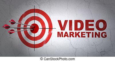 ziel, geschaeftswelt, wand, marketing, video, hintergrund, concept: