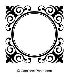 Zierde dekorativer Rahmen
