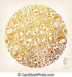 Zierde Goldkreismuster