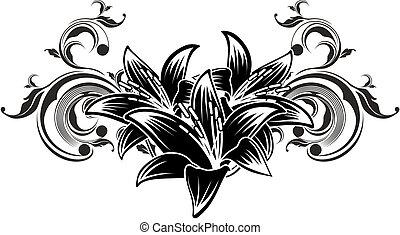 Zierpflanzendesign