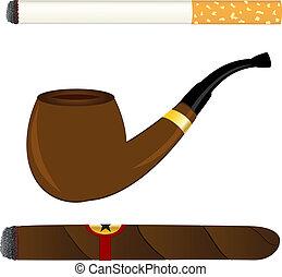 Zigarette, Pfeife und Zigarre