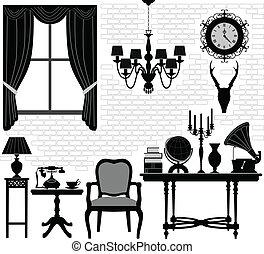 Zimmer mit alten Möbeln