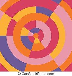 Zirkelfarbener, moderner, abstrakter Hintergrund. Vector Illustration