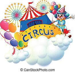 zirkus, oben, wolkenhimmel
