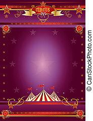 Zirkus Purple Poster