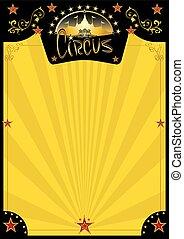Zirkus-Retro-Gelb-Poster.