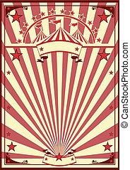Zirkus Retro-Poster.