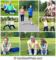 Zittern, joggen, Fitness
