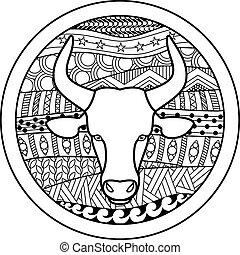 Zodiac Zeichen Taurus.