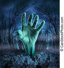 Zombie Hand erhebt sich