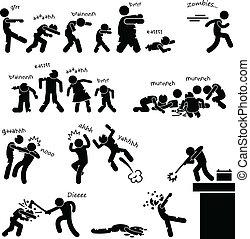 Zombie-Untote Angriffs-Apokalypse