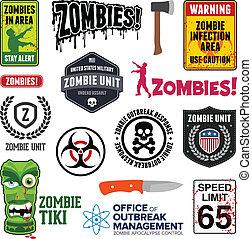 zombie, zeichen & schilder