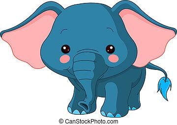 zoo., spaß, elefant