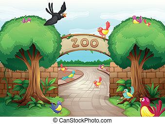 Zoo-Szene