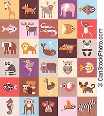 Zootiere, Vektorgrafik