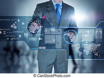 zukunft, technologie, textanzeige