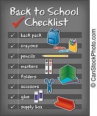 Zurück in die Checkliste der Schule