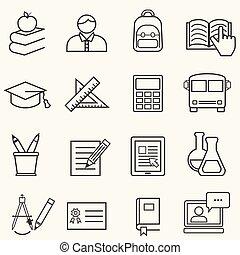 Zurück zu den Schul- und Bildungslinien-Ikonen.