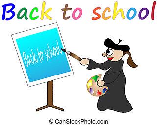 Zurück zu Schulvektor Illustration