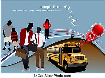 Zurück zur Schule. Vektor Illustration