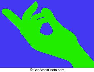 zuwinken, grüne finger