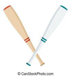 Zwei Baseballschläger