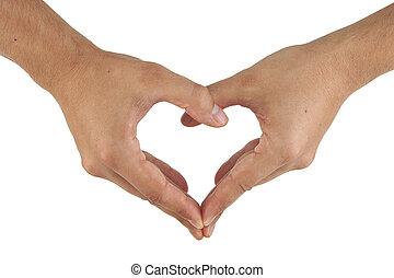 Zwei Hände bilden eine Herzform