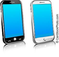 Zwei Handys Smart Handy 3D.