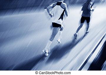 Zwei Läufer sind schnell.