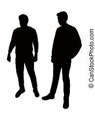 Zwei Leichen Silhouette Vektor.