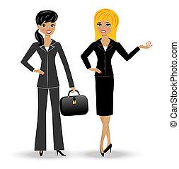 Zwei schlanke Geschäftsfrau.