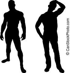 Zwei sexy Männer im weißen Hintergrund
