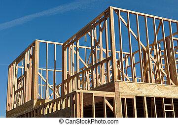 Zwei Stockwerke unter dem Bau