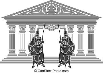 Zwei Titanen und Tempel der Atlantis