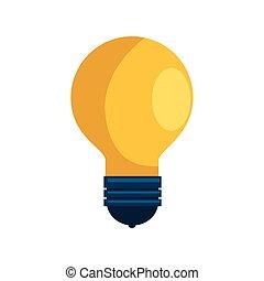 zwiebel, licht, idee, freigestellt, ikone