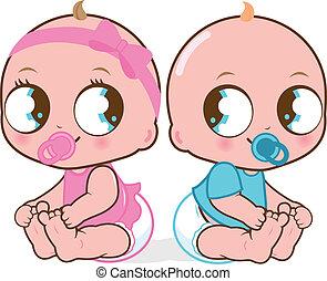 Zwillingskinder.